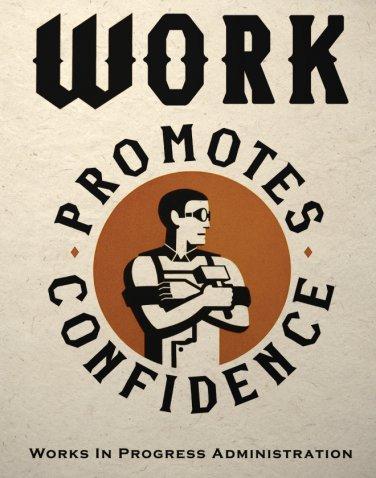 Steampunk Industrial Worker Art Print Wall Decor