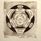 Alchemy Triangle Design Art Print Sacred Geometry