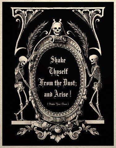 The Undead Arise Gothic Macabre Art Print Memento Mori