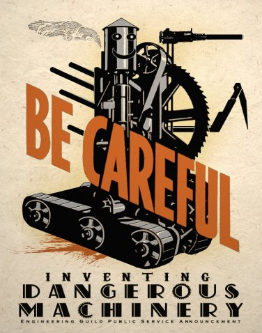 Dangerous Machine Steampunk Art Print Wall Decor