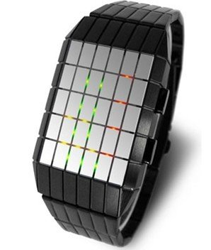 (FREE SHIPPING WITH TRACKING) Lines - Grid Digital LED Mens Wrist Watch
