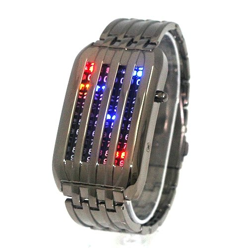 Grey Mens Meteor Shower LED Wrist Watch (FREE SHIPPING WITH TRACKING)