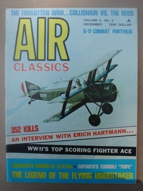 Air Classics Magazine, December 1968 Issue Vol. 5 No. 2.