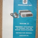 Seacom 55 Frequency Synthesized 55 Channel VHF-FM Marine Radiotelephone Instruction Manual