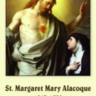 ST MARGARET MARY ALACOQUE  PRAYER CARDS PC#99