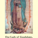 Our Lady of Guadalupe Bilingual Memorare Holy Card PC#271