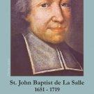 St. John Baptist de La Salle Holy Card PC#291