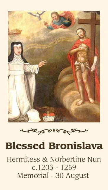Blessed Bronislava Holy Card PC#317