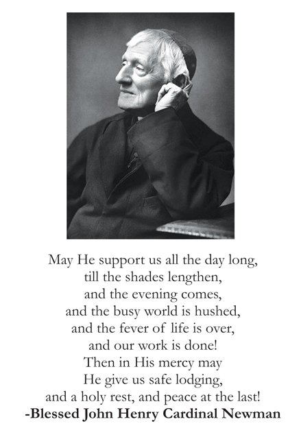 Blessed John Henry Cardinal Newman (large) Holy Card PC#318