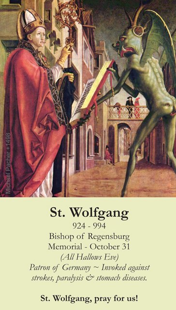 St. Wolfgang Holy Card PC#325
