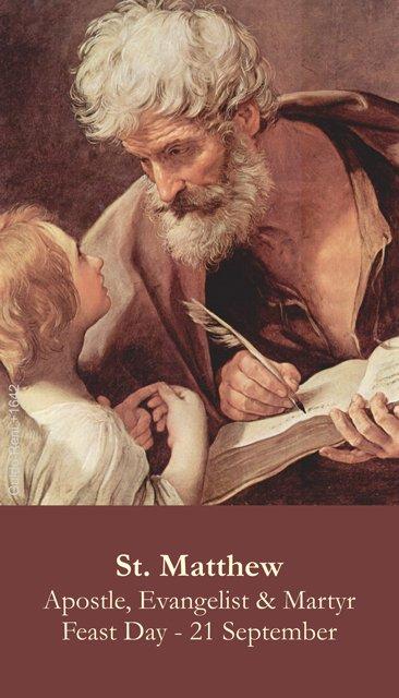 St. Matthew Holy Card PC#327