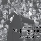 ST. JOSEMARIA ESCRIVA PRAYER CARD PC#61