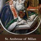 St. Ambrose Holy Card PC#355