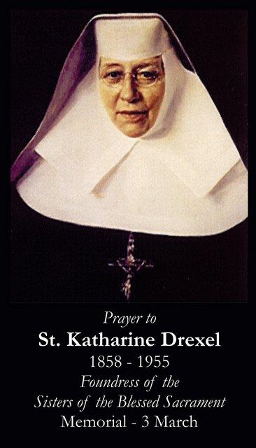 St. Katherine Drexel Holy Card PC#339