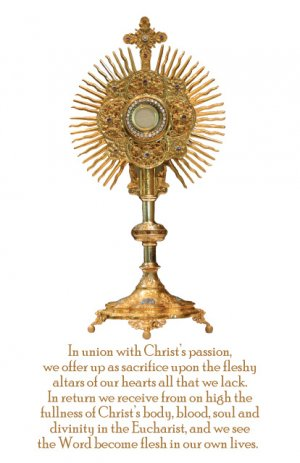 EUCHARISTIC ADORATION PRAYER CARD PC#7LARGE PRINT