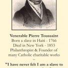 Venerable Pierre Toussaint Prayer Card #179