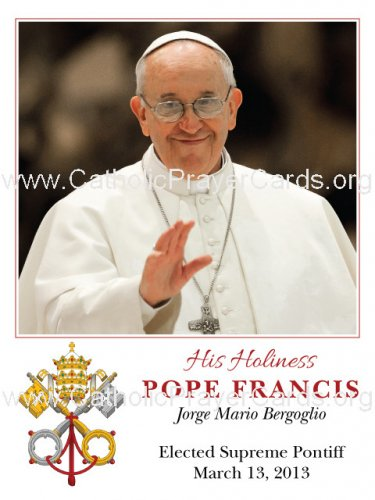 Special Limited Edition Collector's Series Commemorative Pope Francis Magnet #M-21