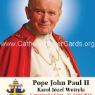 Special Limited Edition Collector's Series Commemorative Pope John Paul II Prayer Card #457