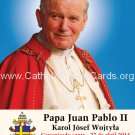 SPANISH Special Limited Edition Collector's Series Commemorative Pope John Paul II Prayer Card #460