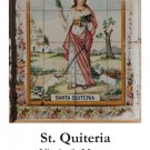 St. Quiteria Holy Card PC#479