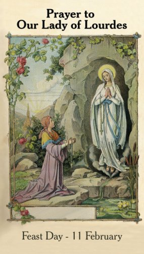 Our Lady of Lourdes Prayer Card PC#184