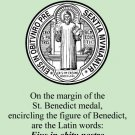 St. Benedict Medal Prayer Card PC#485