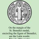 St. Benedict Medal Prayer Card PC#485