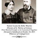 PC-533 Saints Louis and Zelie Martin Canonization Holy Card