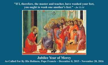 Jubilee Year of Mercy - Corporal & Spiritual Works of Mercy Holy Card #YOM-8