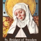 St. Bridget of Sweden Prayer Card PC# 573