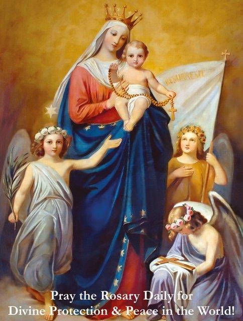 Queen of Peace Prayer Card