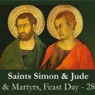 Sts. Simon & Jude Prayer Card PC# 582