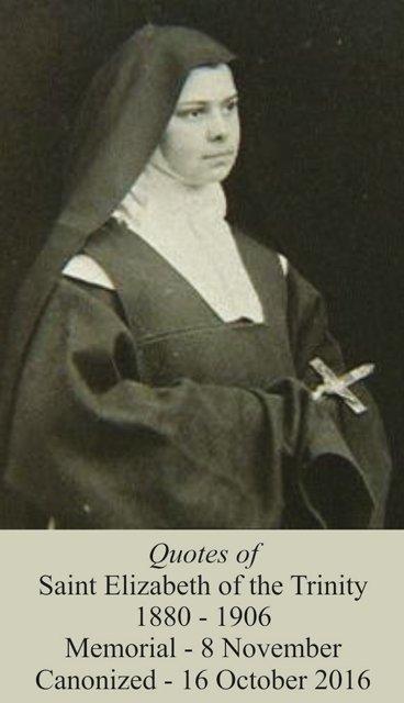 Saint Elizabeth of the Trinity PC# 140