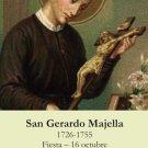 *SPANISH* St. Gerard Prayer Card (Patron of Pregnancy/Motherhood) PC#438
