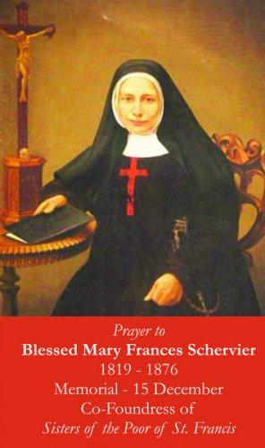 Blessed Mary Frances Schervier Prayer Card PC#384
