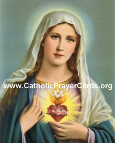 Consecration to the Immaculate Heart of Mary Prayer Card PC#393