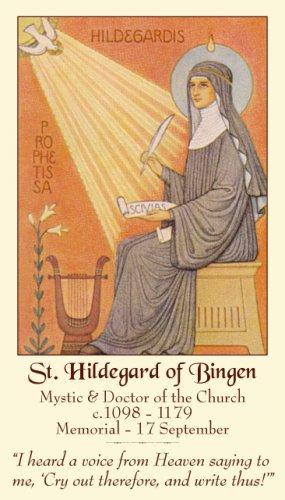 St. Hildegard of Bingen Prayer Card PC#396