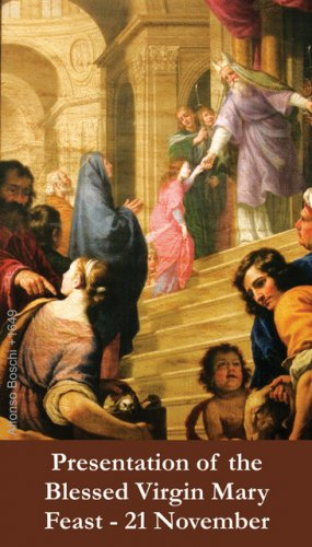 Presentation of Mary Prayer Card PC#401