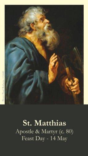 St. Matthias the Apostle Prayer Card PC#414