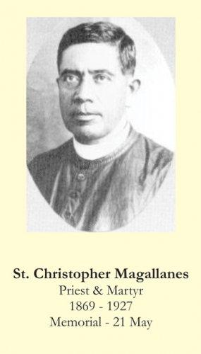 St. Christopher Magallanes Prayer Card PC#416