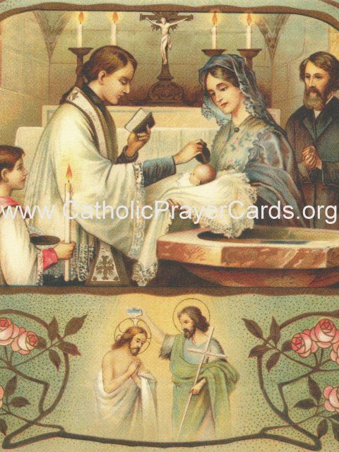Prayer for the Baptism of a Child Holy Card PC#448L