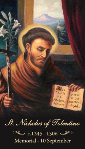 St. Nicholas of Tolentino Prayer Card PC#470
