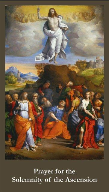 Ascension Prayer Card PC#626