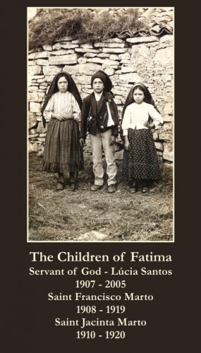 LARGE Fatima Children Prayer Card PC#209L