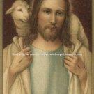 ***LARGE***GOOD SHEPHERD - PSALM 23 PRAYER CARD PC#111L