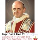 Special Ltd Ed Collector's Series Commemorative Pope Paul VI Canonization Holy Cards PC#484NEW