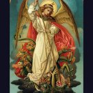 St. Michael the Archangel Defend Us In Battle Prayer Card***JUMBO*** PC#543