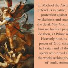 St. Michael & Sub Tuum Praesidium Prayer Card for the Church in Crisis PC#717