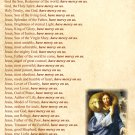 Litany of the Holy Name of Jesus Prayer Card PC-778