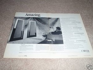 Carver Amazing Loudskrs Ad,1988,2 pages,article RARE